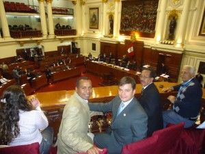 Homenaje de Cámara de diputados de la República de Peru